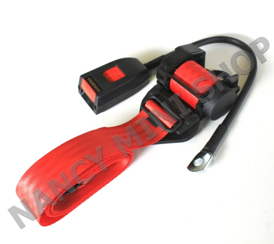 Ceinture avant MOKE (à enrouleur - rouge) - NMS2161 - pièces Austin ... 6fd53f276aa