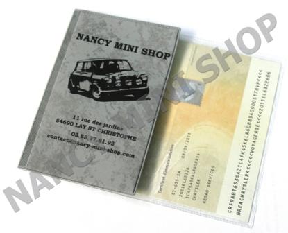 pochette tui de protection carte grise nms3887 pi ces austin mini cooper nancy mini shop. Black Bedroom Furniture Sets. Home Design Ideas