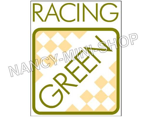 autocollant racing green malle nms3254 pi ces austin mini cooper nancy mini shop. Black Bedroom Furniture Sets. Home Design Ideas